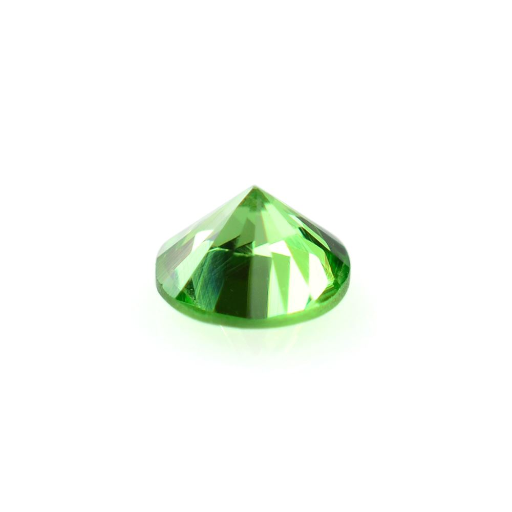 gemstone product average accent carat faceted green mm round one tsavorite