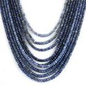 """Picture of BLUE SAPPHIRE 2.00-5.50MM PLAIN ROUNDEL BEADS 14-17"""" LINE"""