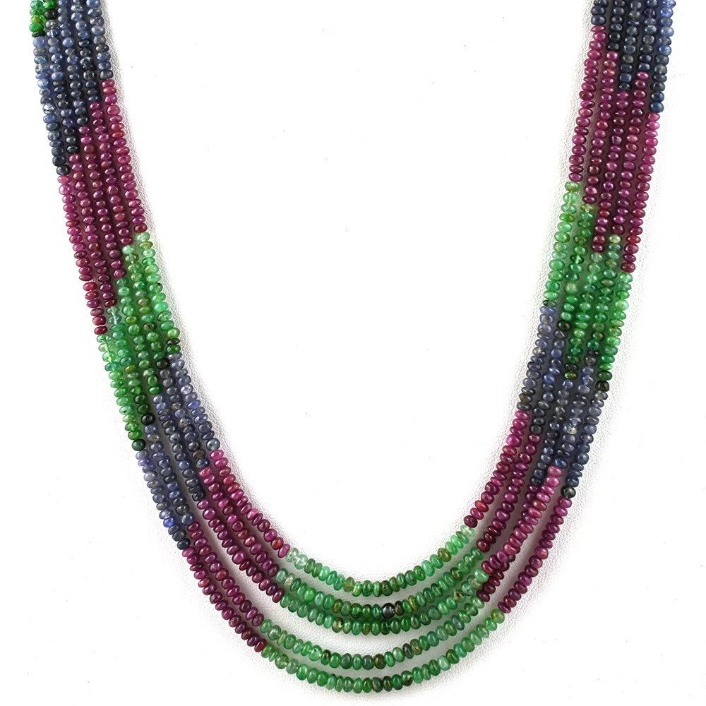 ruby image emerald necklace aaa sapphire s ebay itm is shaded beads loading