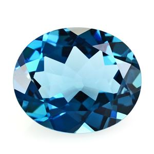 Picture of LONDON BLUE TOPAZ CUT OVAL 12X10MM 4.89 Cts.