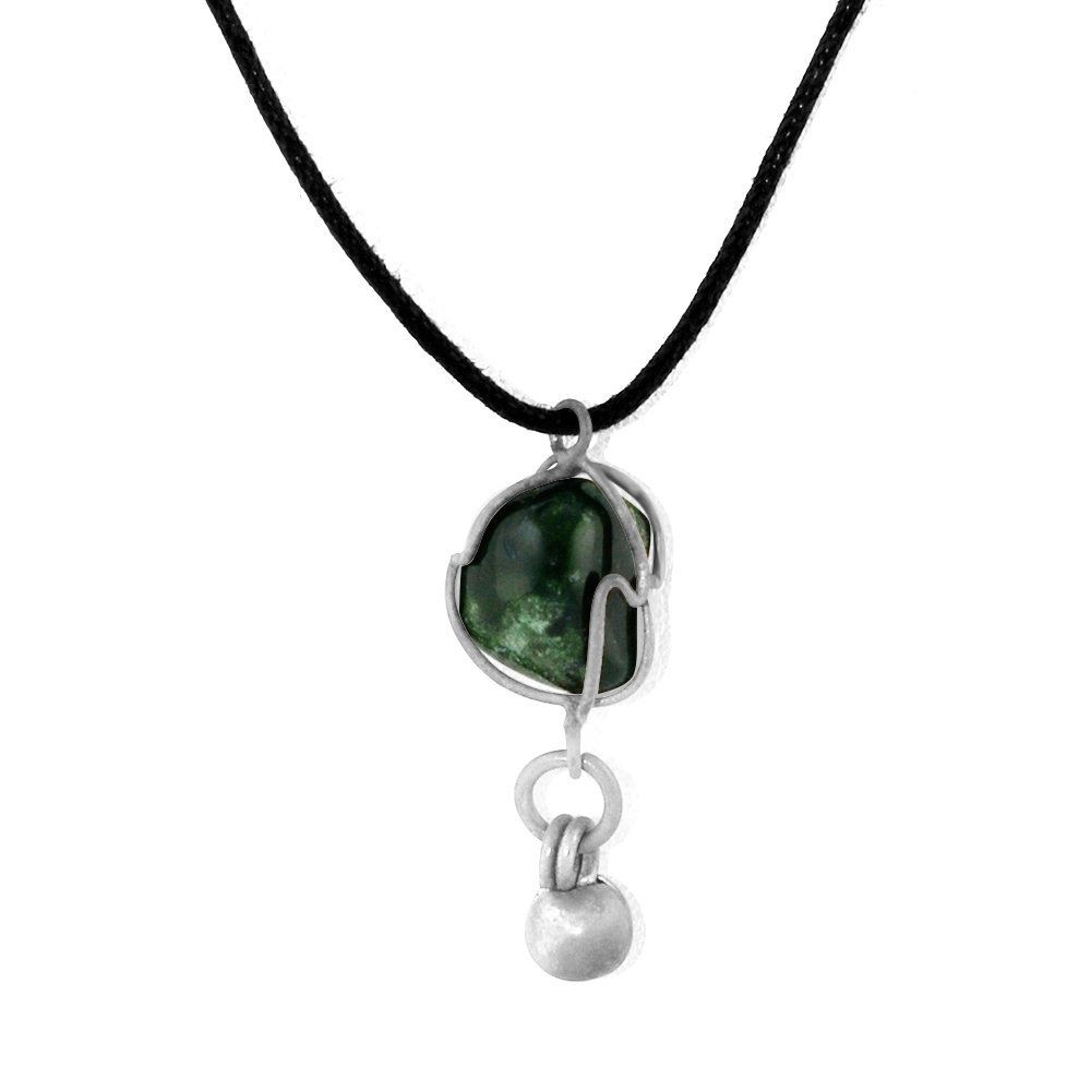 with agate products chain crystal triple charcoal beaded moss necklace